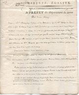 Lettre Du Préfet Du Loiret à Un Notaire, 17 Germinal An 9 - Documents Historiques