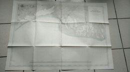 Service Hydrographique De La Marine 1902 -mer Méditerranée DE PALAVAS AUX SAINTES-MARIES Golfe D'aigues Mortes - Cartes Marines