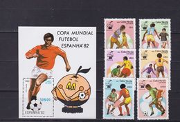 Cape Verde 1982 World Cup,set MNH Sc 446/52          A294 - Cape Verde
