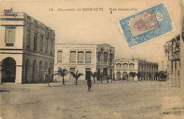 Pays Div-ref K839- Souvenir De Djibouti - Rue  Gambetta  - Carte Bon Etat   - - Djibouti