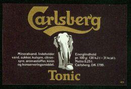 SO Etikett - Carlsberg Tonic (Mineralwasser) - Labels