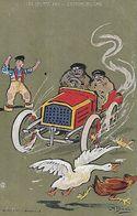 CPA SPORTS Humoristiques.  Illustrateur CH. BEAUVAIS. L' Automobile, Oie, Poules. .CO 271 - Altri