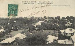 Pays Div-ref K836- Guinée Francaise - Conakry A Vol D Oiseau  - Carte Bon Etat  - - Guinée Française
