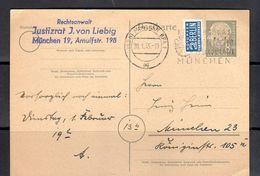 8 Pfennig Heuss Hustizrat J. Von Liebig (bu4-91a) - Cartes Postales - Oblitérées
