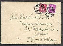 ALLEMAGNE    -    1932 .  Très Belle  Lettre  De WITTWEIDA  Pour  St-PARRES-LES-VAUDES  (Aube) - Deutschland