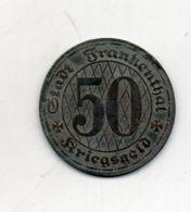 Stadt Frankenthal. Kriegsgeld. 50 Pf. 1917 - Monetary/Of Necessity