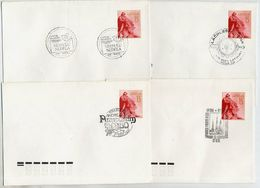 LATVIA 1991 Four Commemorative Postmarks On Stationery Envelopes Michel U4. - Latvia