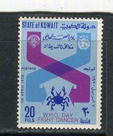 KOWAIT - Y&T N° 481** - Journée Mondiale De La Santé - Lutte Contre Le Cancer - Kuwait