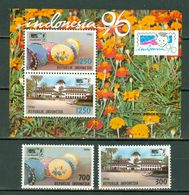 Indonesia 1996  ZB 1680/81** + Bl 122** (1682),  Yv. 1447/48 + Bl 101** MNH - Indonesia