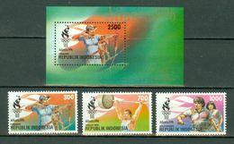 Indonesia 1996  ZB 1694/96** + Bl 126**,  Yv. 1451/53 + Bl 103** MNH - Indonesia