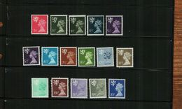 GREAT BRITAIN - QEII - 1971 - SCOTTISH REGIONAL MACHINS - 16 Stamps - MNH - Unused Stamps