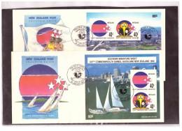 "NZFDC155   -      WANGANUI  24.1.1990    /      YT Nr.  BF. 70/71    ""    XIVth  COMMONWEALTH GAMES, AUCKLAND "" - Francobolli"