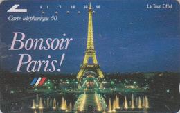 Télécarte Ancienne Japon / 110-011 - FRANCE - PARIS TOUR EIFFEL  Japan Phonecard - Site 131 - Paisajes