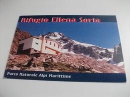 STORIA POSTALE FRANCOBOLLO COMMEMORATIVO DE SICA  ITALIA RIFUGIO ELLENA SORIA PARCO NATURALE ALPI MARITTIME ENTRAQUE CN - Alberghi & Ristoranti