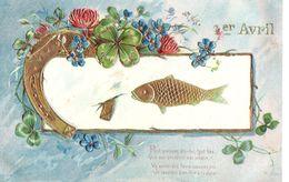 Gaufrée - Trèfle - Poisson - Fer à Cheval - Fleurs - Petit Poisson Dis-lui Tout Bas... - 1er Avril - Poisson D'avril
