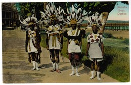 South Africa, Ricksha Boys, Durban, OLD Postcard (pk41539) - Afrique Du Sud
