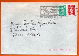 94 IVRY SUR SEINE  MOULIN DE LA TOUR  1991 Lettre Entière N° HH 556 - Annullamenti Meccanici (pubblicitari)