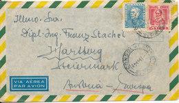 Brazil Air Mail Cover Sent Austria 8-11-1957 - Airmail