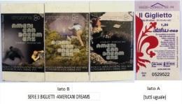"""SERIE 3 BIGLIETTI BUS USATI """"AMERICAN DREAMS"""" FIRENZE ATAF - Autobus"""