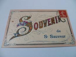 89- YONNE- SAINT SAUVEUR EN PUISAYE - Souvenirs De Saint-Sauveur (en Relief) - Saint Sauveur En Puisaye