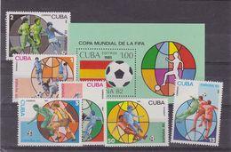 Cuba World Cup 82 MNH Set Sc 2391/7         A303 - Cuba