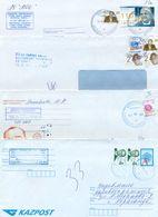 Kazakhstan. Four Envelope Passed The Mail. One Envelope Registered. - Kazakhstan
