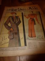 1937 LPEDLM :(Le Petit Echo De La Mode) :Tricot; Fabuleux Cellier De Bercy; La PUSZLA (Hongrie);Faire Un Gilet En Laine - Libri, Riviste, Fumetti