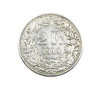 2 Francs - Suisse -1944 - Argent - TB+ - - Suisse