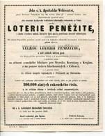 Autriche Austria Österreich Czech TCHEQUIE 1859 LOTERI PENEZITE Lottery - Austria