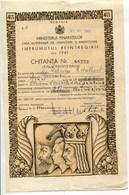 "Roumanie Romania Rumänien 1941 Ministry Of Finance 2500 LEI "" LOAN "" Prêt - Actions & Titres"