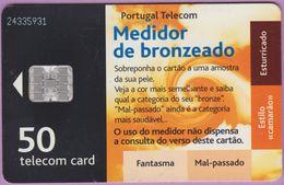 Télécarte Portugal °° 50 - Medidor De Bronzeado - Sc7 - RV 5931   ***   LUXE - De Luxo - Portugal