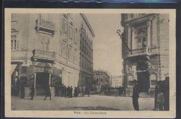 CROATIA POLA PULA STREET SCENE VIA PROMONTORE OLD POSTCARD #06 - Croatia