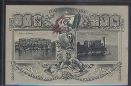 CROATIA POLA PULA ITALY TRIESTE MIRAMARE OLD POSTCARD #08 - Croatia