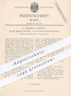 Original Patent - G. Windisch , Breslau , 1884 , Schnellpresse Für Buchdruck , Steindruck | Druckpresse , Druck - Presse - Historische Dokumente