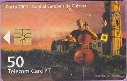 Télécarte Portugal °° 50 - Porto 2001 Violoncelliste - Gem - RV E539   ***   LUXE - De Luxo - Portugal