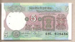 India - Banconota Non Circolata FdS Da 5 Rupie P-80r - 1997 - India