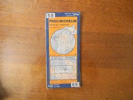 CARTE PNEU MICHELIN N° 59 St BRIEUC-RENNES - Roadmaps