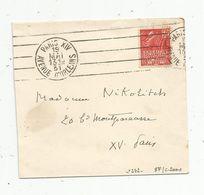 Lettre Partielle ,1931 , PARIS XIV , Avenue D'ORLEANS ,Paris XV DISTRIBUTION, 2 Scans - 1921-1960: Modern Period