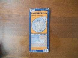 CARTE PNEU MICHELIN N° 52 LE HAVRE-AMIENS - Roadmaps