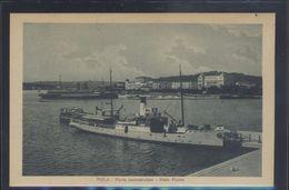 CROATIA POLA PULA SHIP IN PORT OLD POSTCARD #17 - Croatia