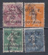 Syrie N°  83 + 85 / 87 O Timbres France Surchargés : Partie De Série : Les 4 Valeurs Oblitérations Moyennes Sinon TB - Syria (1919-1945)