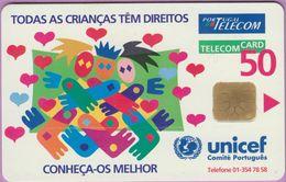 Télécarte Portugal °° 50 - Unicef Português - Conheça-os-melhor 1996 - LG1 - RV 4751   *  TBE -  Em Bom Estado - Portugal