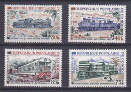 Congo - 1968 - N°Yv. 334/337  LOCOMOTIVES DU C.F.C.O N* MH - Congo - Brazzaville
