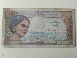 500 Ariary  1966 - Madagascar