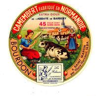 P 840 - ETIQUETTE DE FROMAGE -   CAMEMBERT  ABBAYE DE BARBERY BOURDON  SAINT MARTIN  (CALVADOS) - Cheese