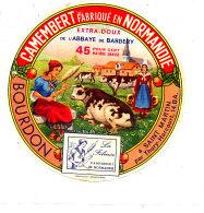 P 841 - ETIQUETTE DE FROMAGE -   CAMEMBERT  ABBAYE DE BARBERY BOURDON  SAINT MARTIN  (CALVADOS) - Cheese