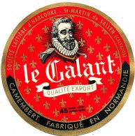 P 844 - ETIQUETTE DE FROMAGE -   CAMEMBERT   LE GALANT   SAINT MARTIN DE SALLEN (CALVADOS) - Cheese