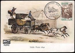CARTOLINA: Malle Poste 1842 - Esposizione Di Carrozze - Beaulieu Sur Mer 16/6/64 / Franc. Reinserimento Dei Paraplegici - Other