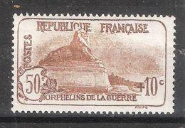 France 1926 , Orphelins De Guerre , Yvert N° 230, Lion De Belfort 50 C + 10 C Brun , Neuf ** / MNH, TB Cote 95 Euros - Unused Stamps