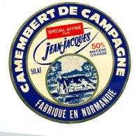 P 848 - ETIQUETTE DE FROMAGE -   CAMEMBERT  DE CAMPAGNE JEAN-JACQUES  50 A F. (MANCHE ) - Cheese